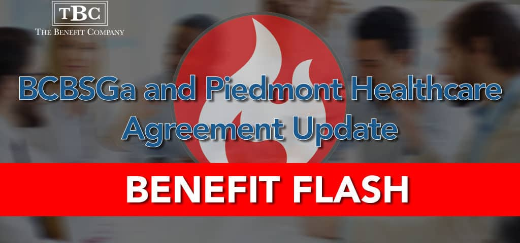 BCBSGa and Piedmont Healthcare Agreement Update