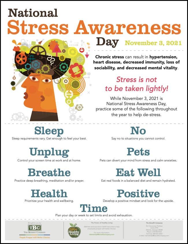 National Stress Awareness Day Poster